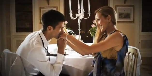 Jelena Ristic & Novak Djokovic together - romantic Dinner