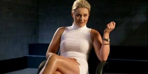 Lindsey Vonn - showing a basic instinct pose