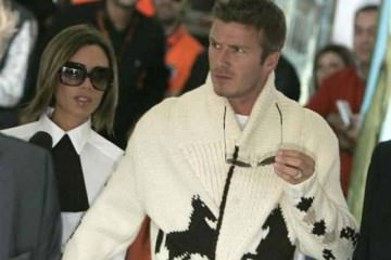 airport fashion - David & Victoria Beckham