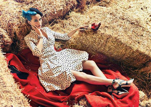Polka dot dresses - Katy Perry May 2012