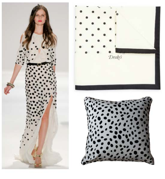 polka dott dresses 2012 black and white