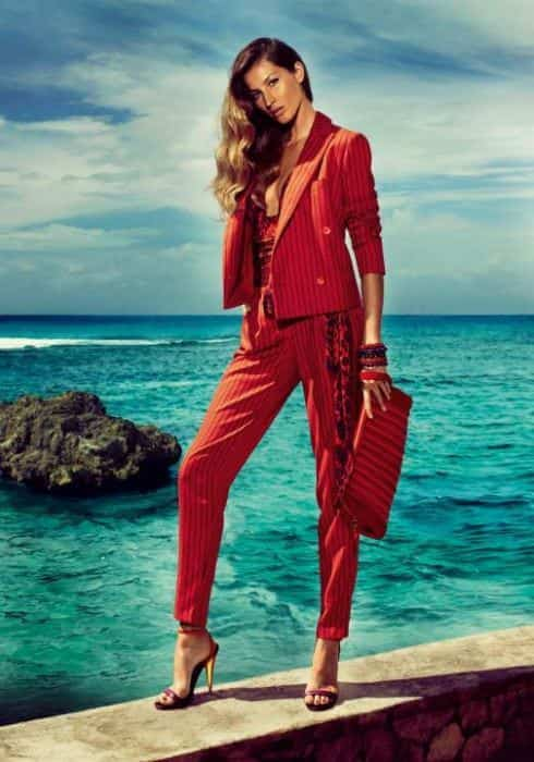 salvatore_ferragamo, red suit,women