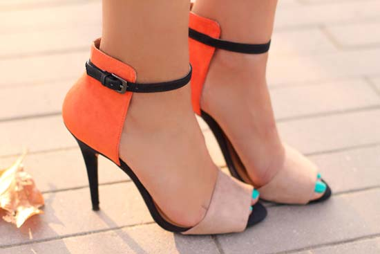 ZARA shoes orange 2012