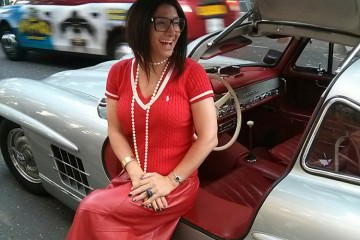 Gracie-Opulanza-Red-London-Collections-Men-2014-Gullwing-Mercedes