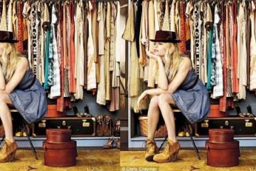 Wardrobe storage space for fashion