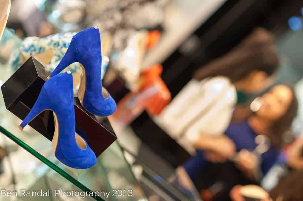 Karen Millen - Blue Suede high heels 2013