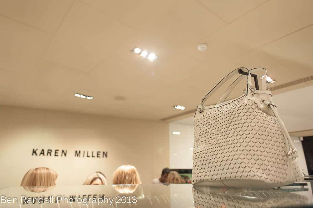Karen Millen - white leather handbag 2013