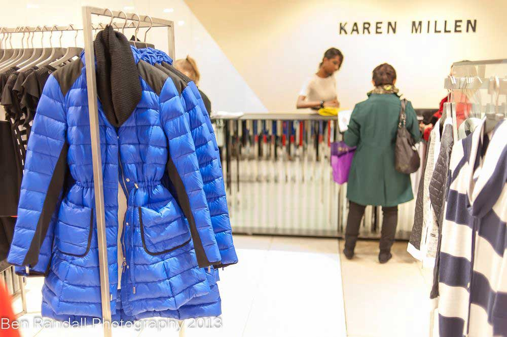Karen Millen Autumn winter 2013 - Coat blue nylon