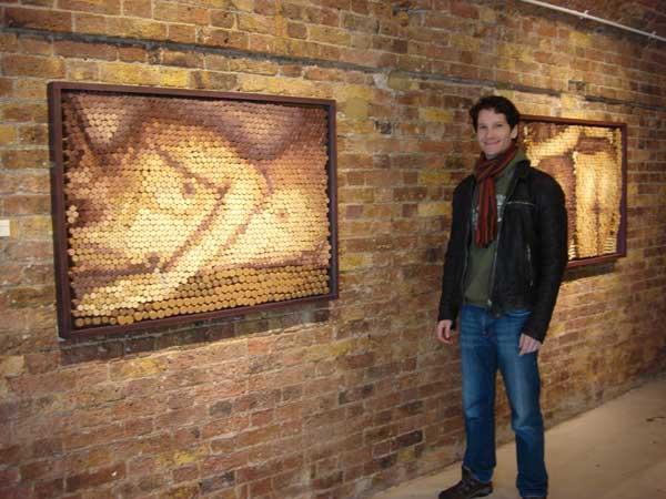 Conrad Engelhardt,wine cork art london, marylin monroe