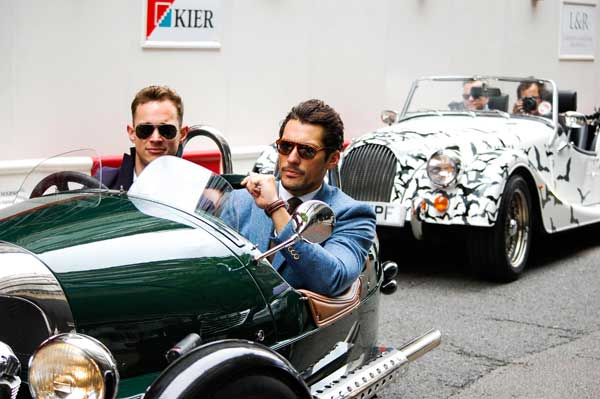 David Gandy - London Collections men morgan 3 wheeler