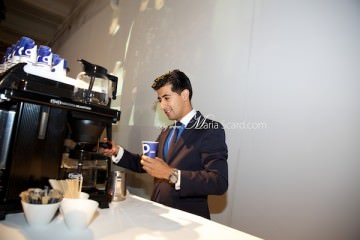 Lavazza coffee - men drinkng in london