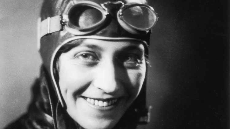 Amy Johnson dressed by Belstaff
